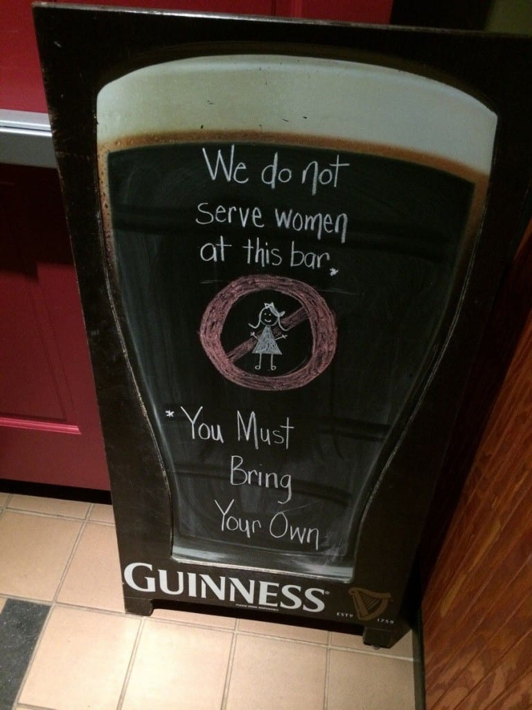 We do not serve women at this bar