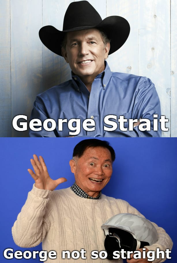 george-not-so-straight