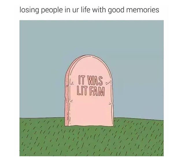 Losing people in your life